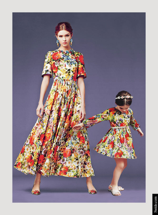 mother-and-daughter-matching-dresses-ideas-from-dolce-and-gabbana-fall-winter-2014-15-bouquet-print